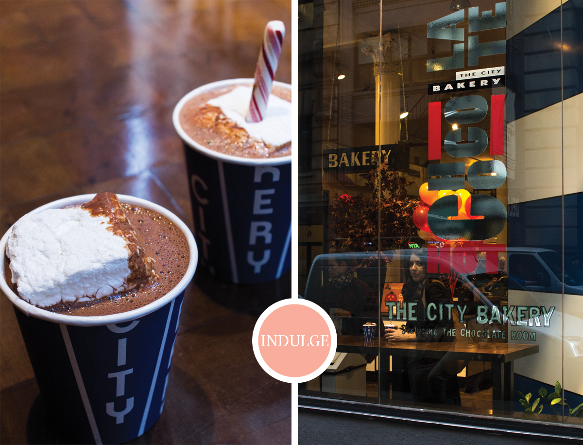 3 NYC Musts from 2 Former New Yorkers: Hot Chocolate at City Bakery via All the Delights