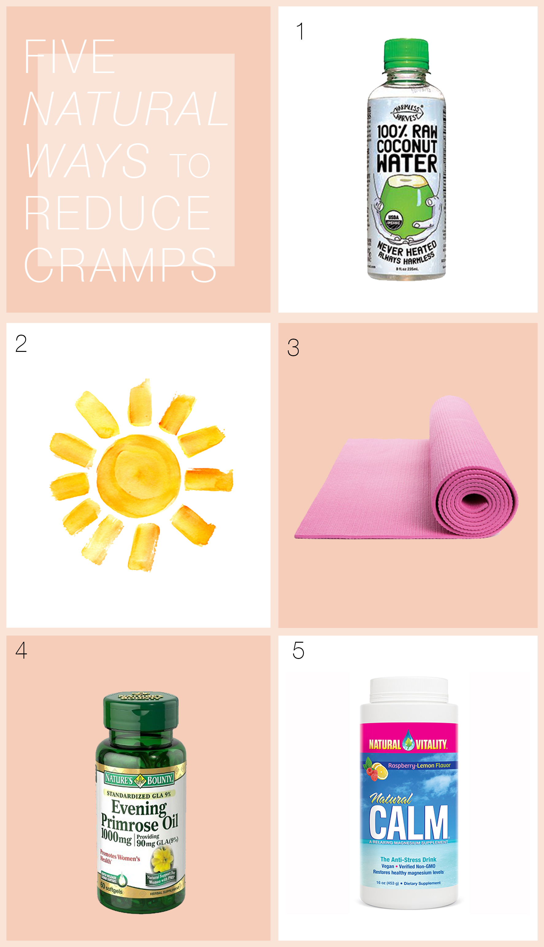 Five Natural Ways to Reduce Cramps via allthedelights.com