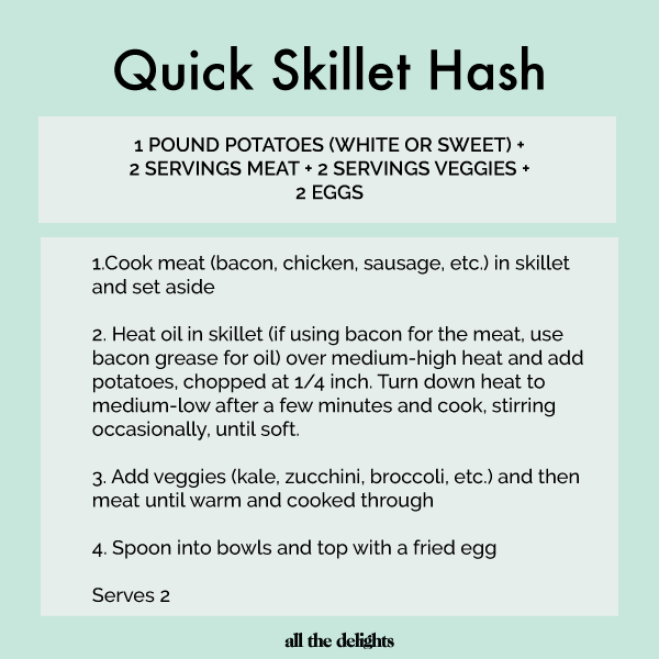 Easy Recipe Equation: Quick Skillet Hash via All the Delights