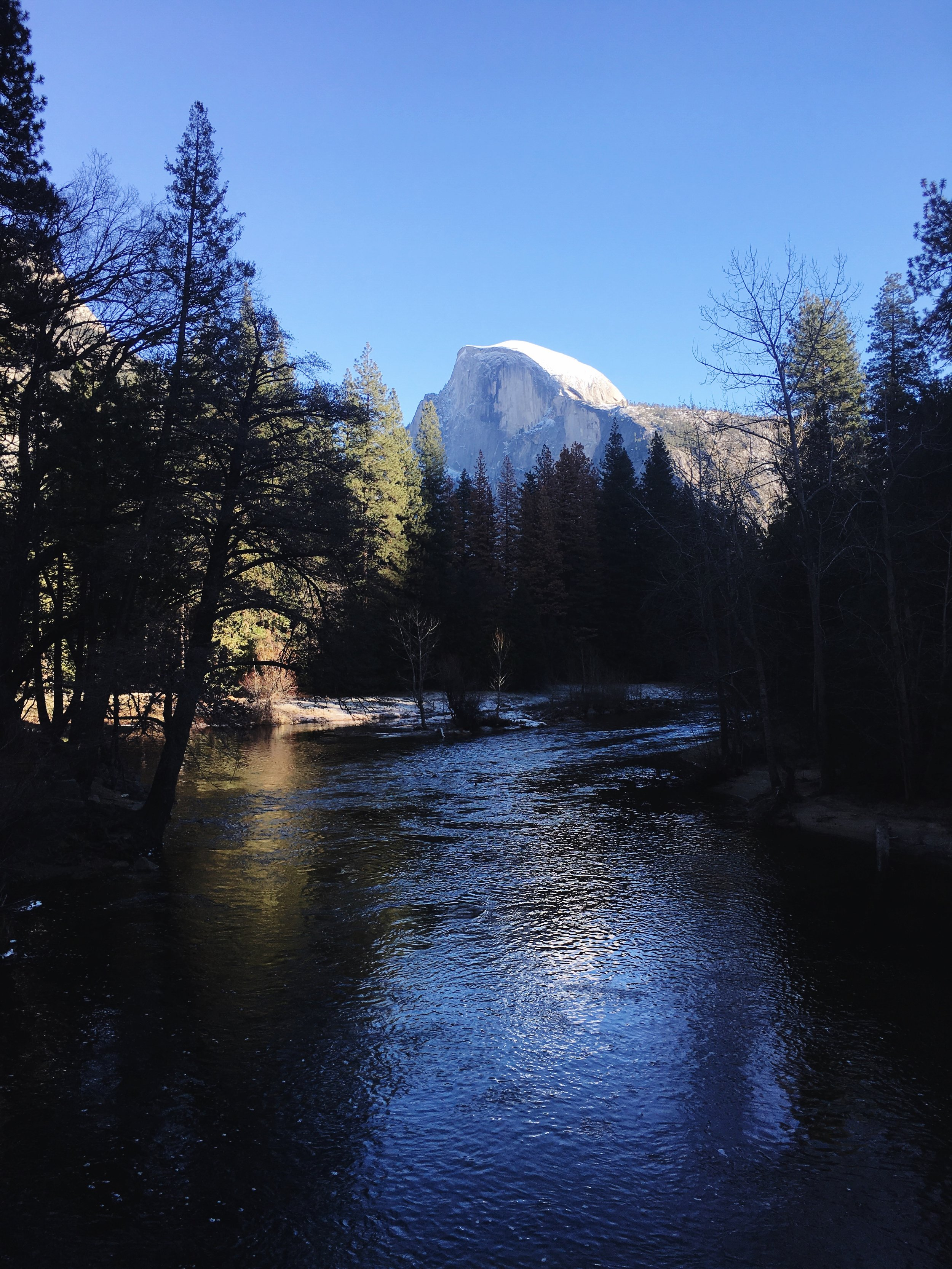 The half dome in December.