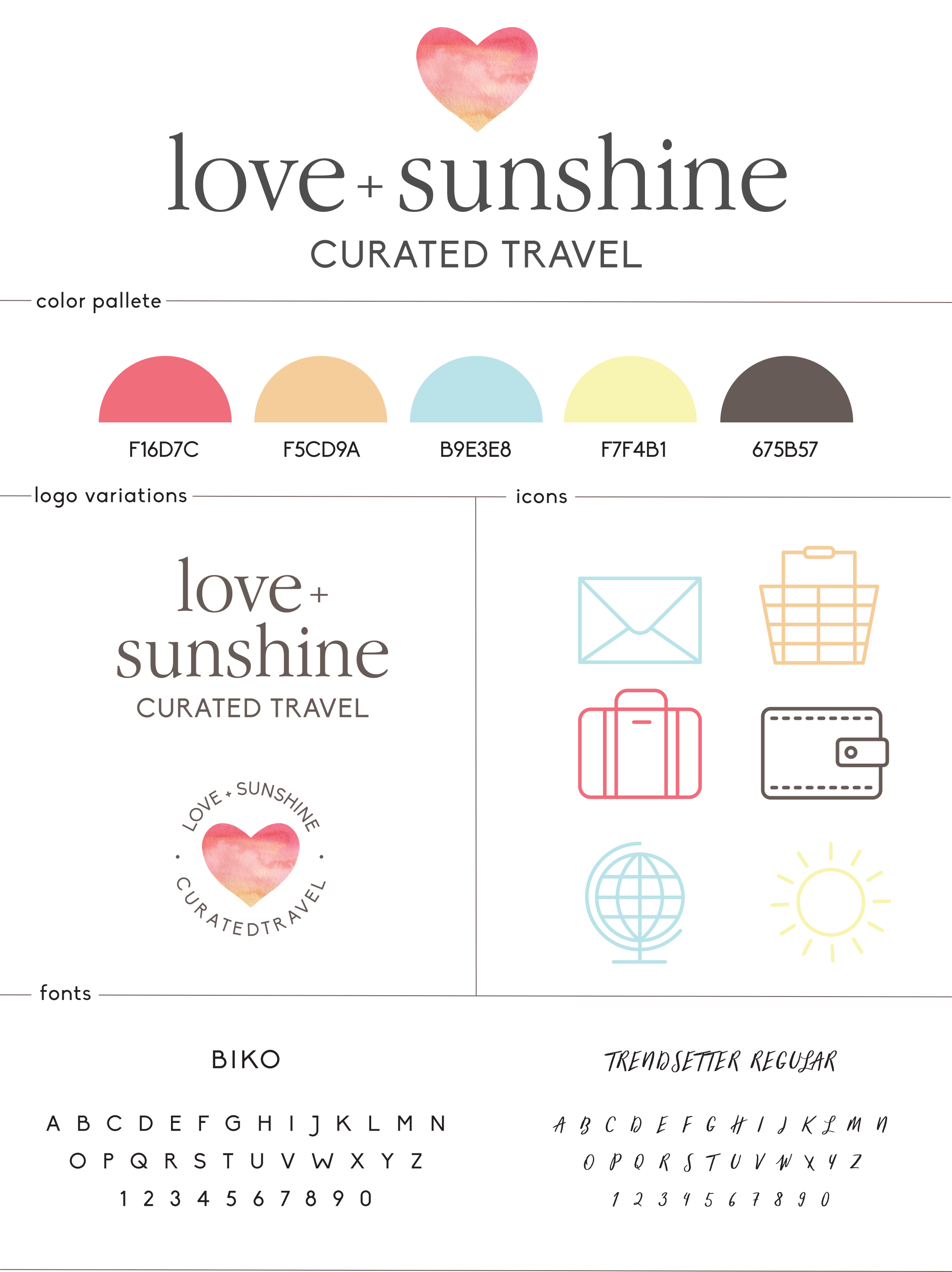 Love + Sunshine Brand Guide by All the Delights Design