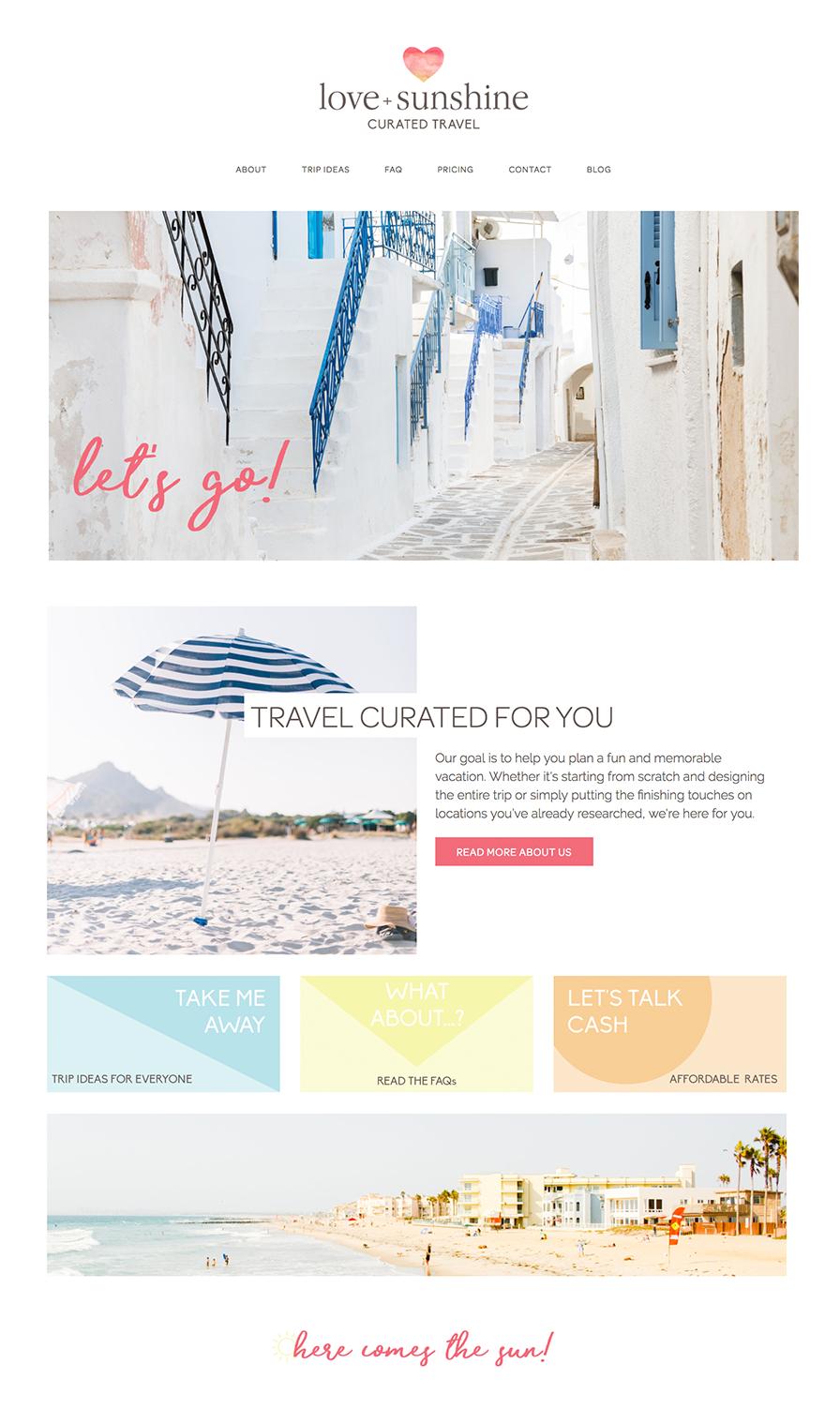 Love + Sunshine Home Page