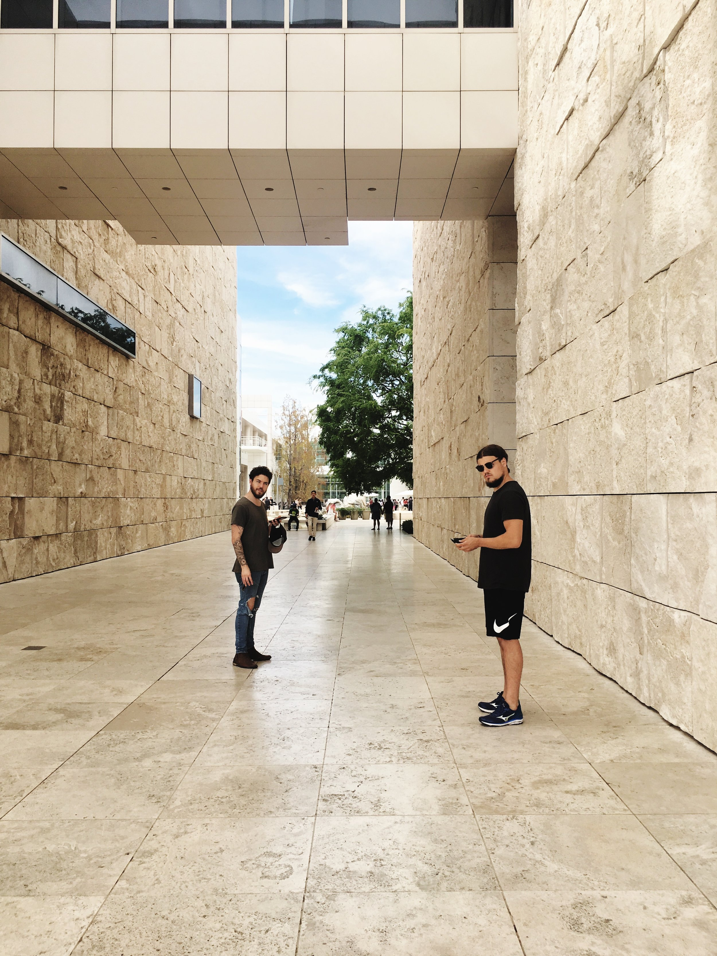 Matty and Caleb at The Getty.