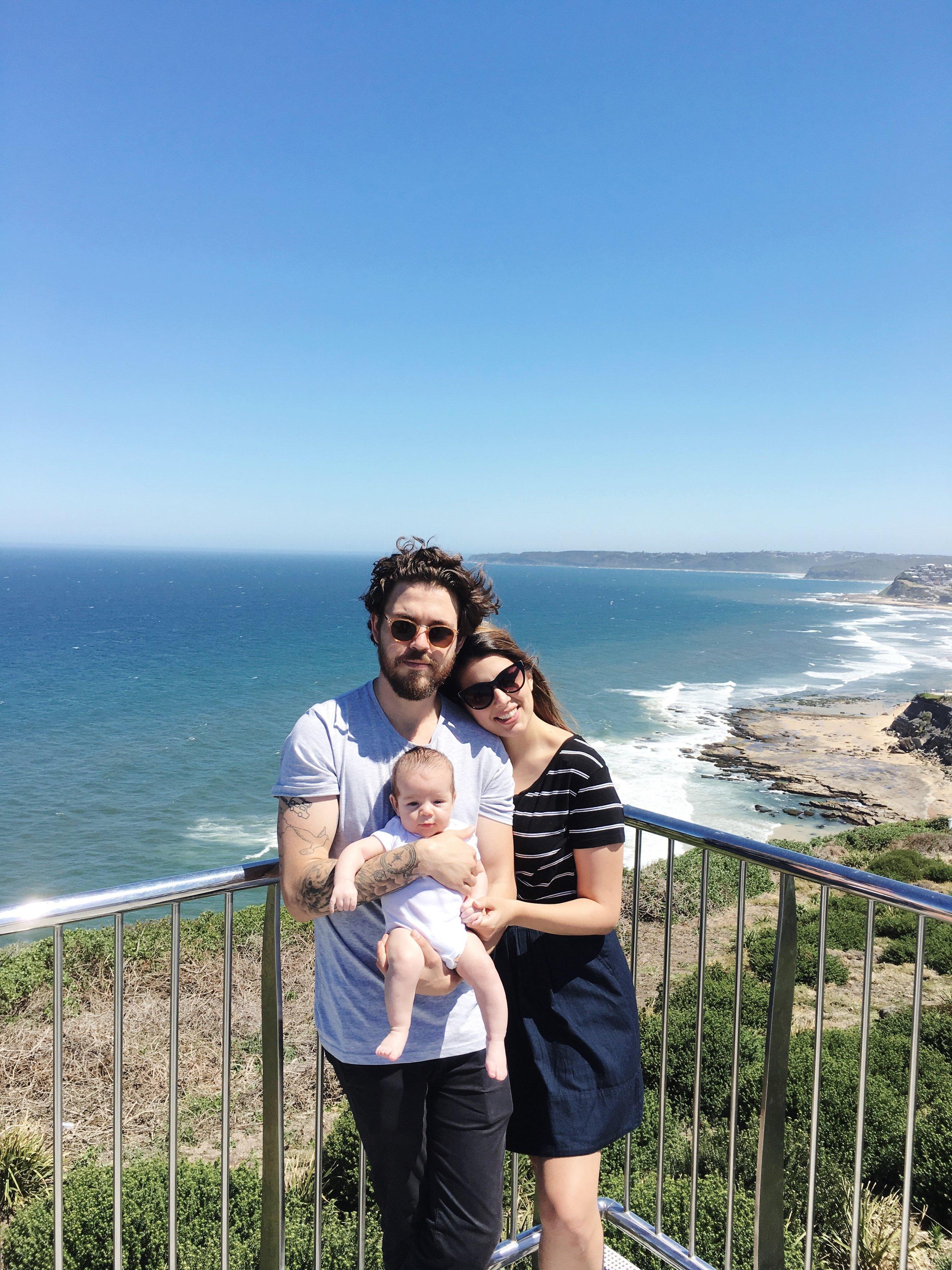 He saw the ocean in Australia before he did in California!