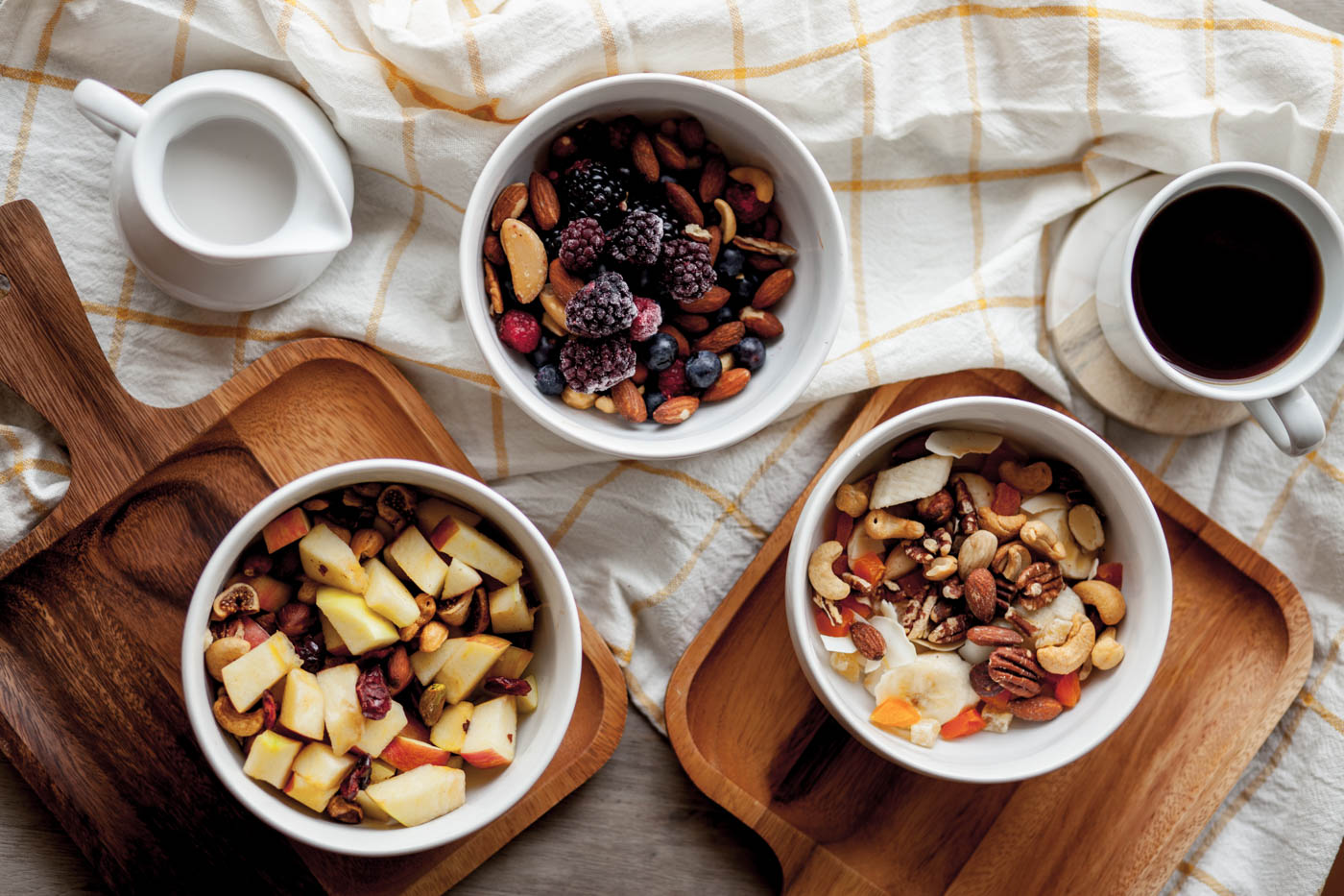 Fruit and Nut Breakfast Bowls