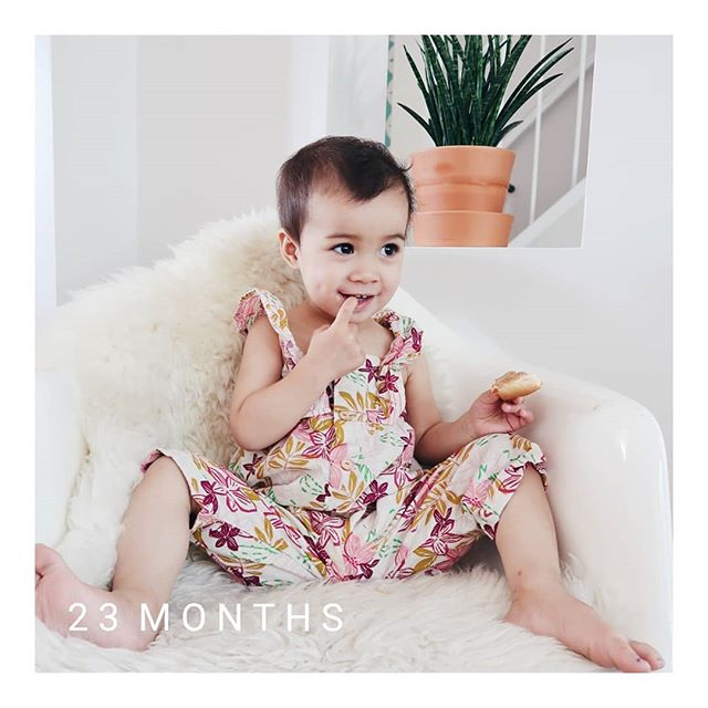 I can't believe how fast this second year has gone by. She's talking up a storm, loves to wear her rubber boots everywhere, and knows the whole alphabet. Still waiting for the sleep through the night milestone. #lolajune #23monthsold