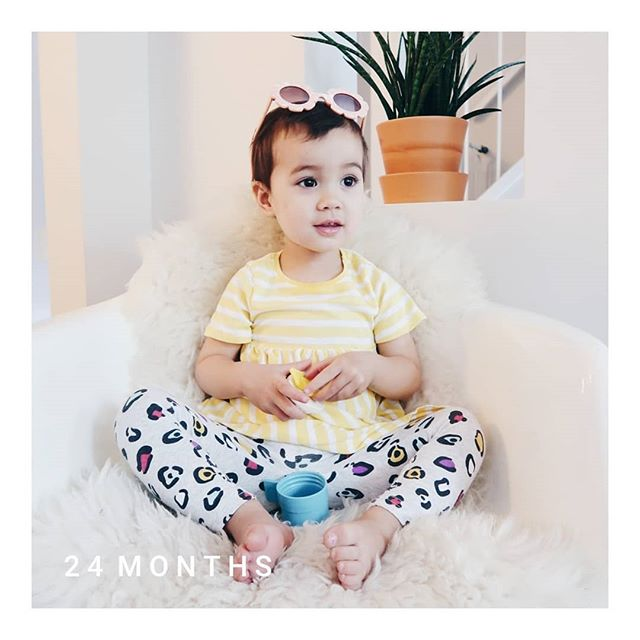 And in the blink of an eye, you are two. #lolajune #24monthsold