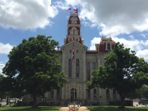 You can find the prettiest courthouse in Texas in We atherford.  Photo Credit: M'Lissa Howen.