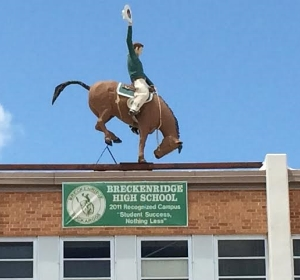 The Buckaroo atop Breckenridge High. Photo Credit: M'Lissa Howen.