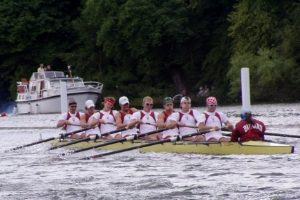 """Row for my knee replacement! Photo Credit: """"Harvard Rowing Crew at Henley 2004 -2"""" via Wiki Commons (Public Domain)."""