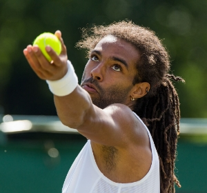 """""""Dustin Brown 9, 2015 Wimbledon Qualifying - Diliff"""" by Diliff - Own work. Licensed under CC BY 3.0 via Wikimedia Commons -  Public Domain"""