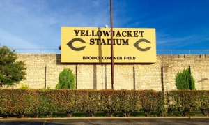 """""""The Rock,"""" one of the best places for Friday Night Lights in Texas. Photo Credit: M'Lissa Howen."""