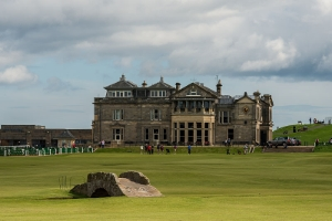 The Royal and Ancient Clubhouse at the home of golf, in St. Andrews, Scotland.  Photo Credit: Wikimedia Commons (Public Domain).