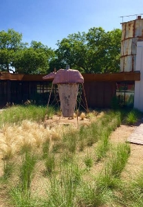 An outdoor exhibit at the Science Mill. Photo Credit: M'Lissa Howen.