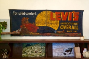 The Levi's sign at Stidham's comes from the original store in Georgetown. Photo Credit: M'Lissa Howen.