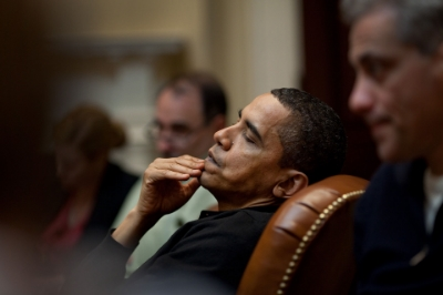 So much evil left to do, so little time left... Photo Credit:Pete Souza via  Wikimedia Commons