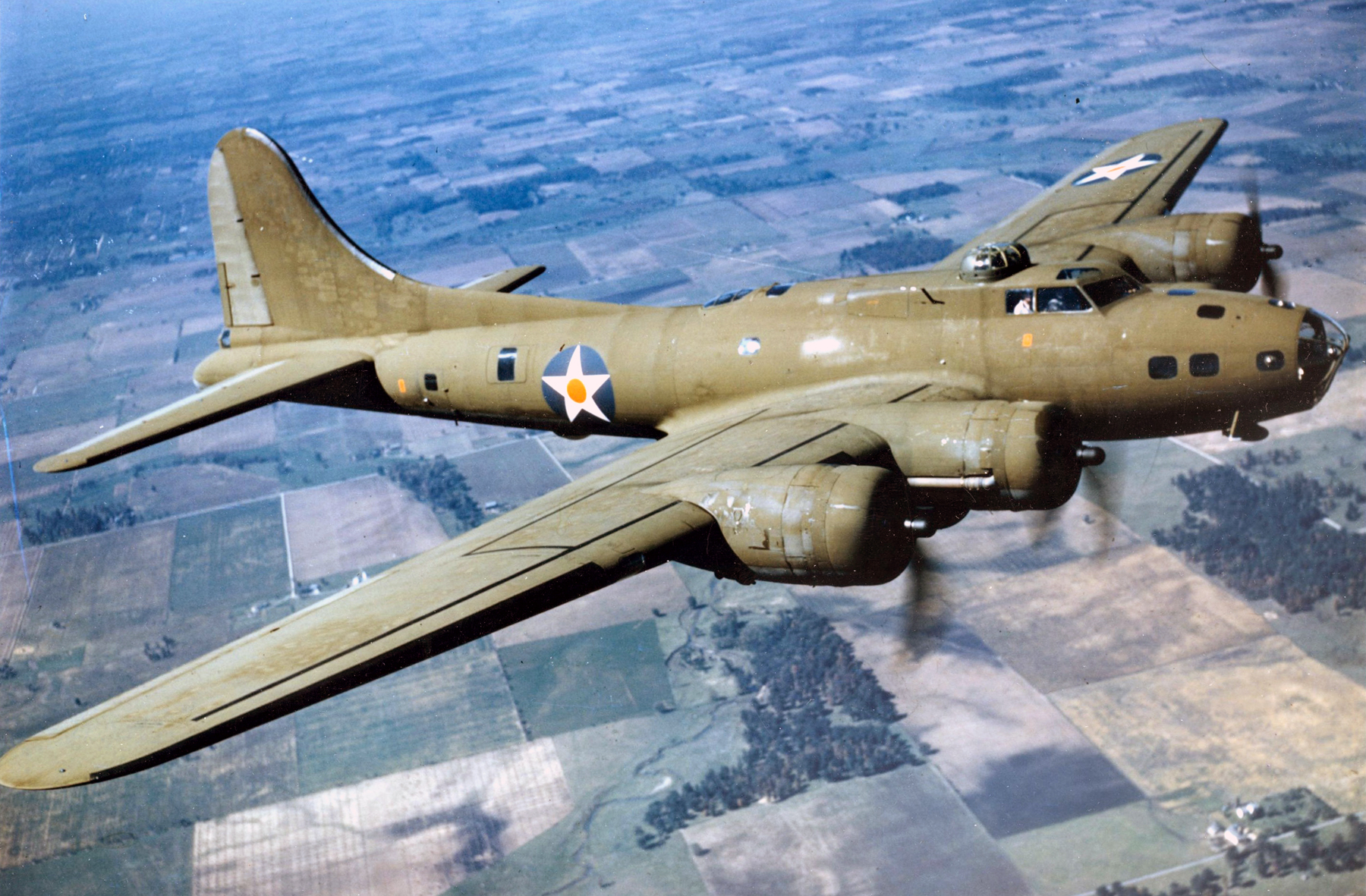 Bud Storrs flew the iconic B-17, pictured here.