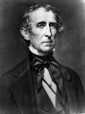"""John Tyler was the first vice-president to gain the white House because of the death of a president, deeply unpopular he was no """"His Accidency."""" But Texas has plenty ot Tyler High Schools in gratitude for his stand on statehood."""
