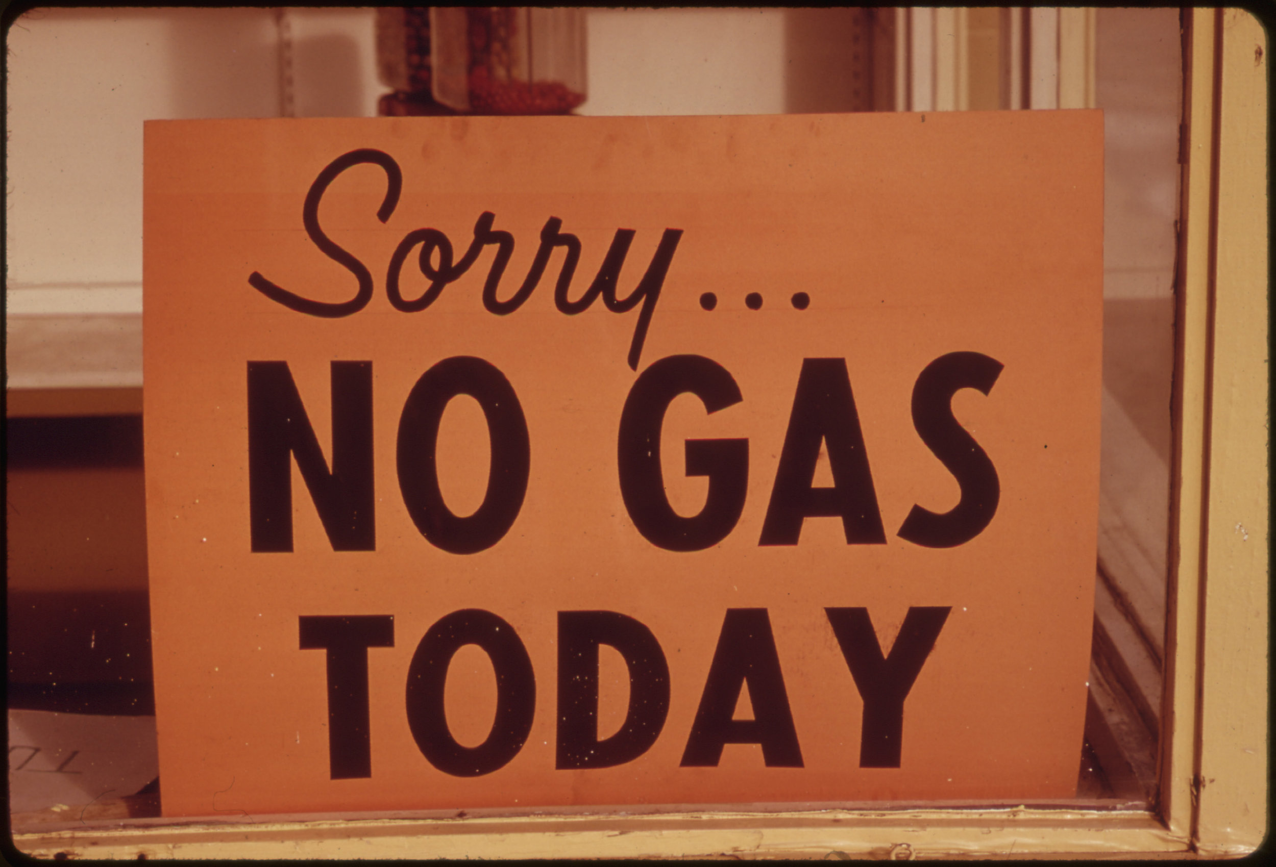 A much too frequent sign from the early 1970's. Image via Wikimedia and the National Archives.