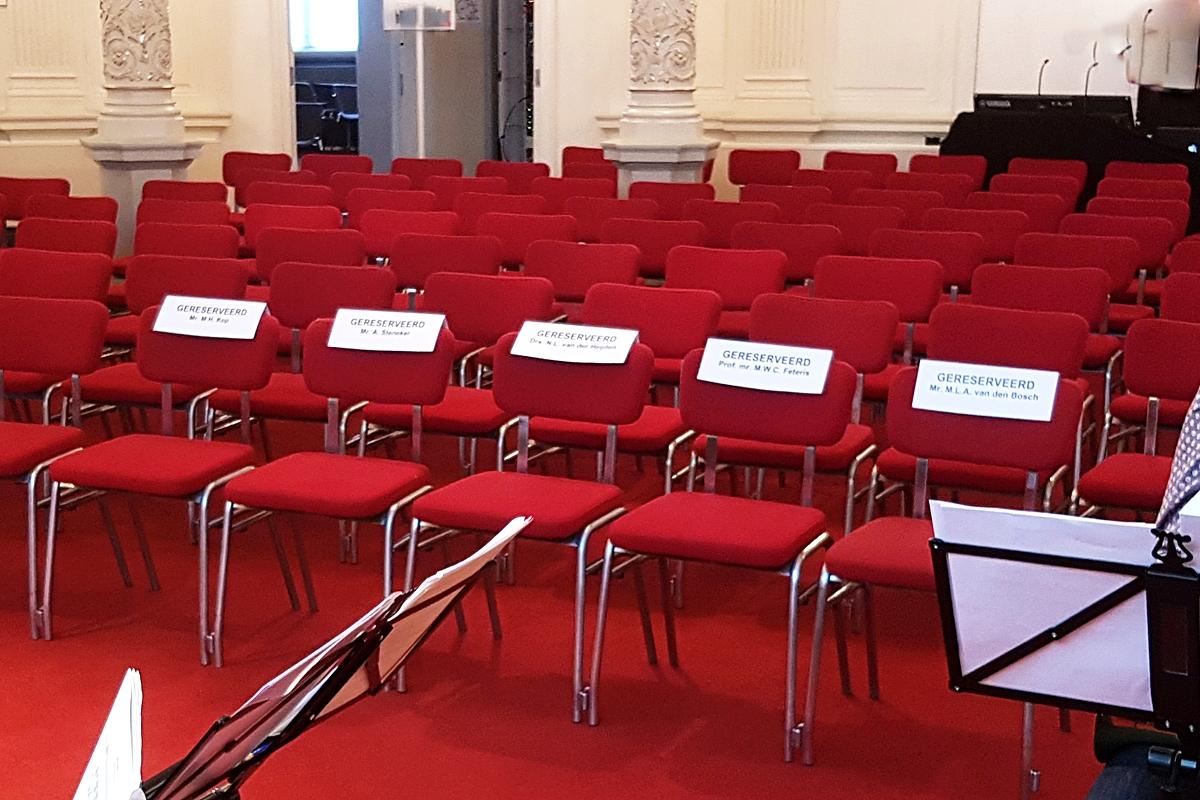Generale Repetitie in de Spiegelzaal van het Concertgebouw.