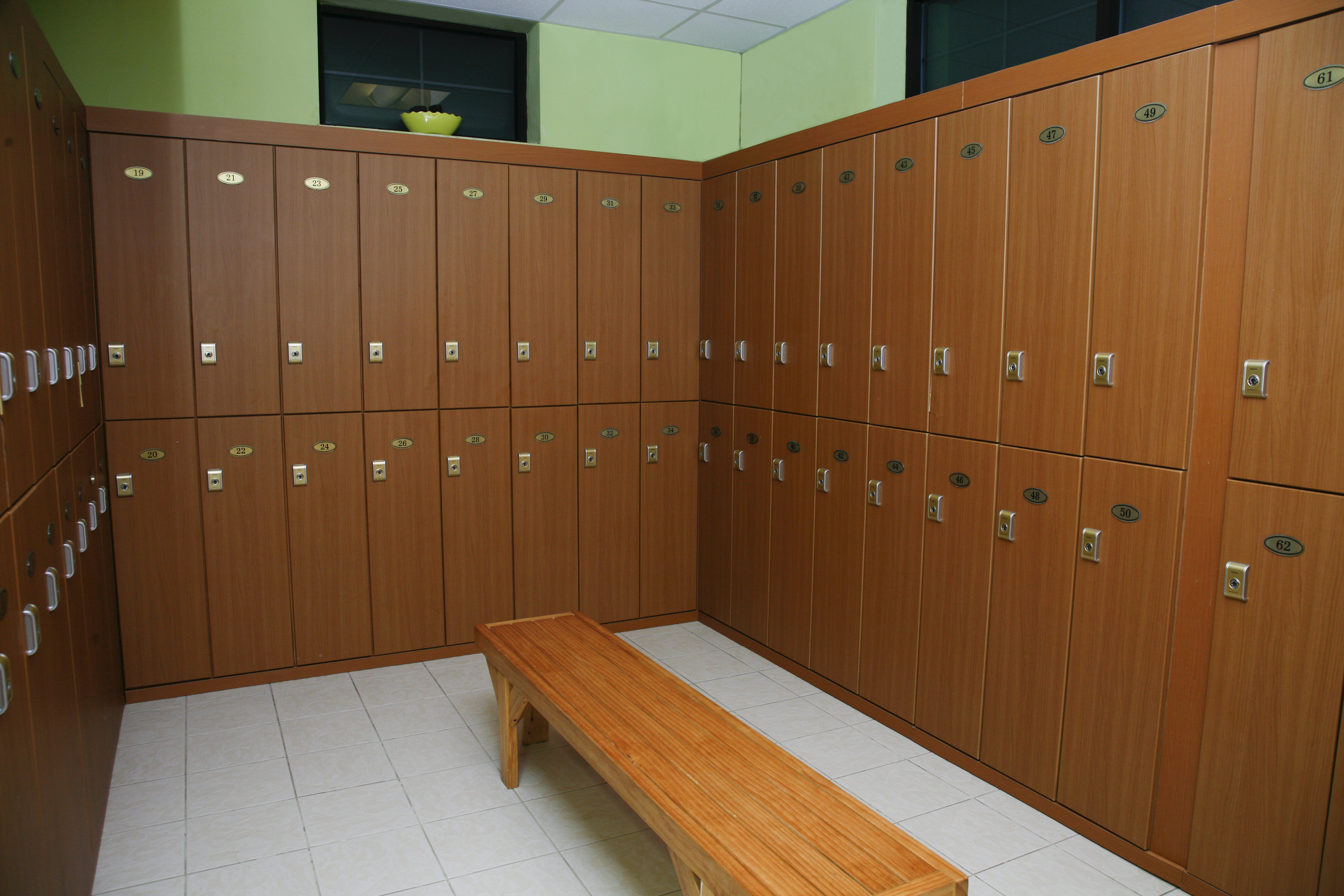Locker Room   Our private lockers provide a place to store your personal items. Please do not leave valuables in the lockers.