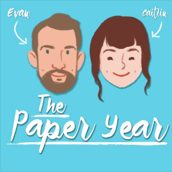 The Paper Year - Evan and Caitlin are newlyweds. Each week on The Paper Year, they interview a married couple about their experiences and ask them for advice, insight, and how they decide what shows to watch. Joanna and her husband Matt appeared on Episode 4 of The Paper Year.