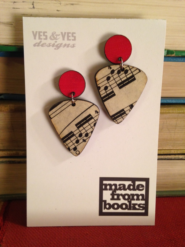 MUSIC GUITAR DUO EARRINGS $34
