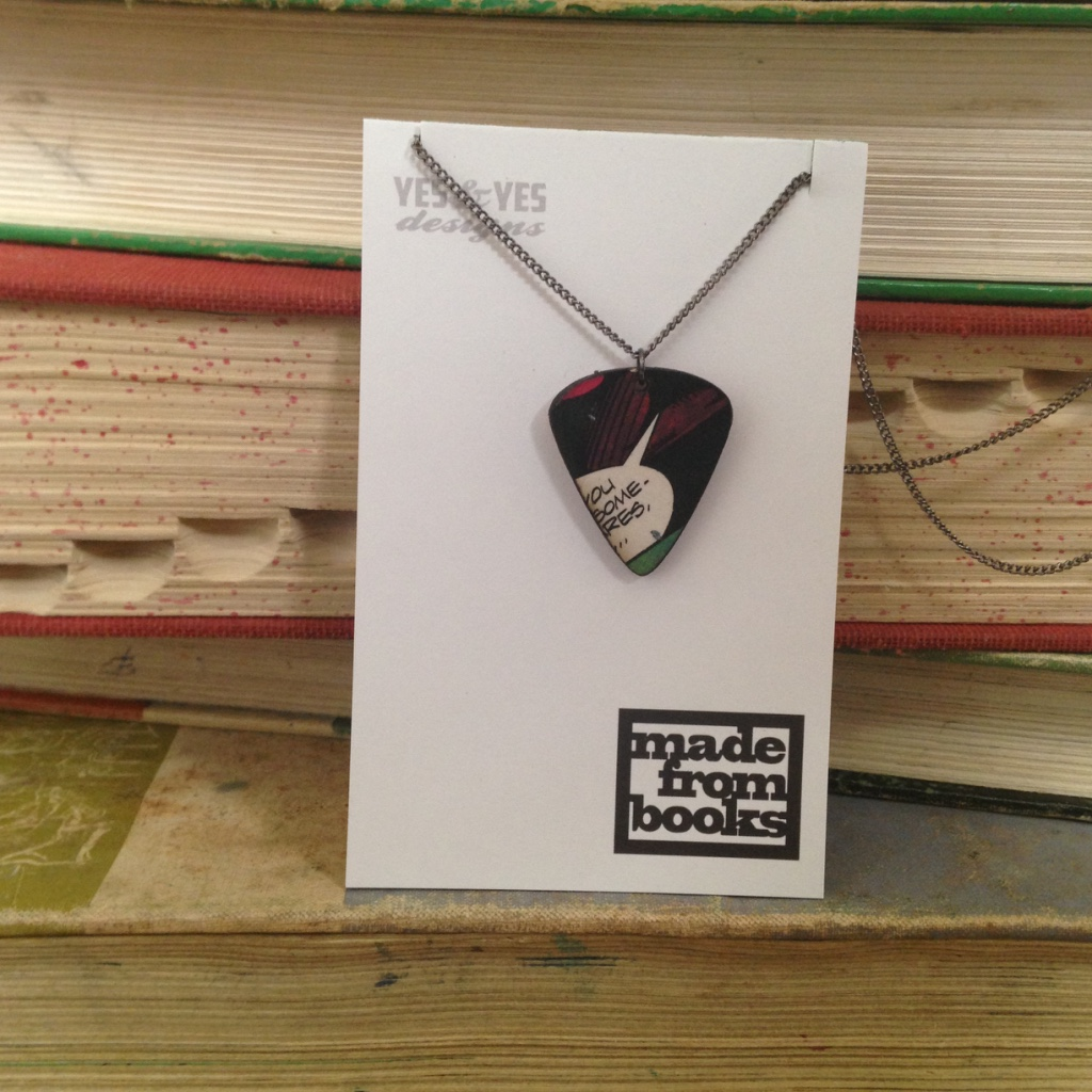 COMIC GUITAR NECKLACE $26