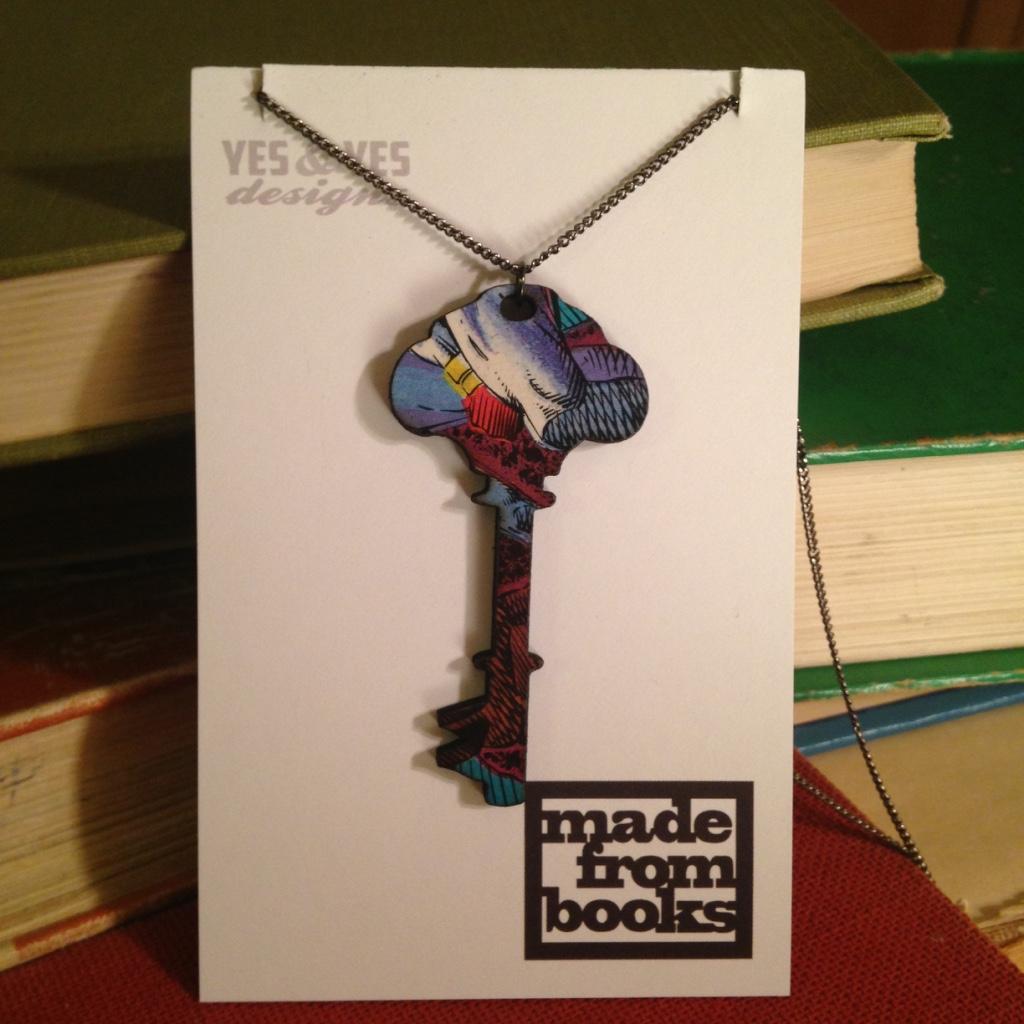 DESK KEY COMIC NECKLACE $26