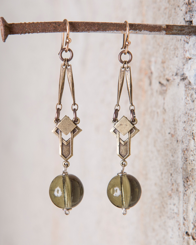 vintage olivine bead earrings_e-1497.jpg
