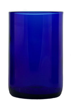 UPCYCLED SAPPHIRE COBALT GLASS TUMBER $10