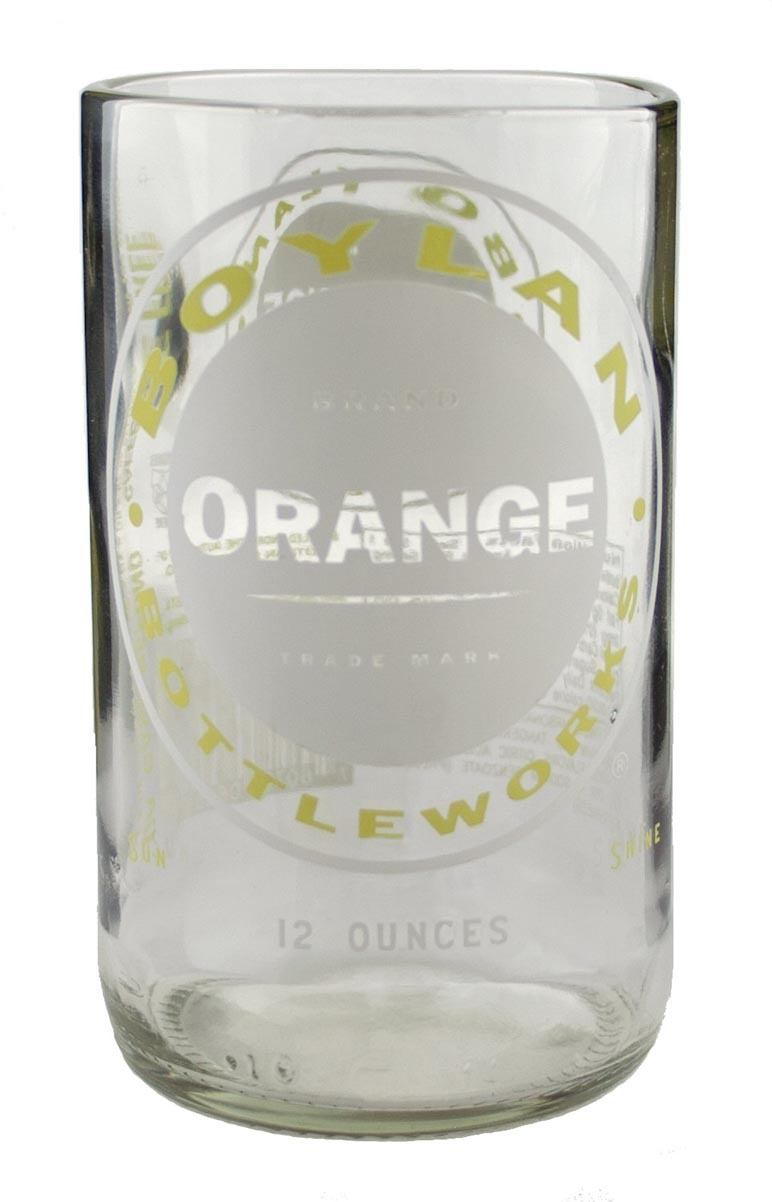 UPCYCLED CLEAR ORANGE TUMBLERS $9