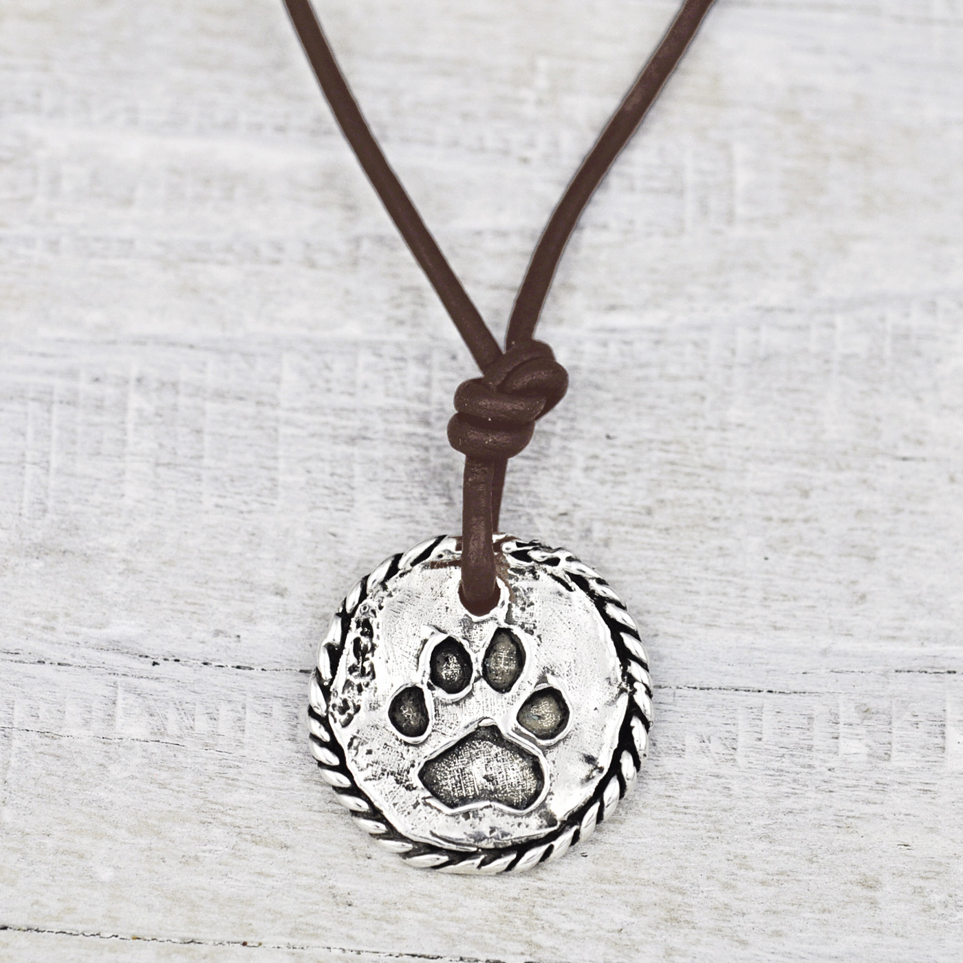 'LOVE HAS PAWS' NECKLACE $48