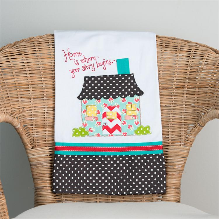 HOME IS WHERE YOUR STORY BEGINS' TEA TOWEL $16
