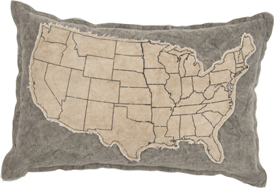 USA MAP DECORATIVE PILLOW  $26