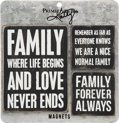 FAMILY THEME MAGNET SET  $12