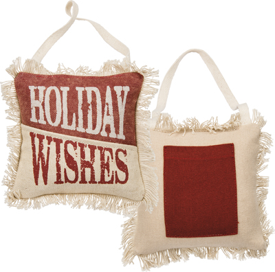 HOLIDAY WISHES' MINI PILLOW  $9