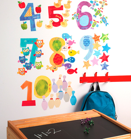 COUNTING NUMBERS VINYL DECALS $25
