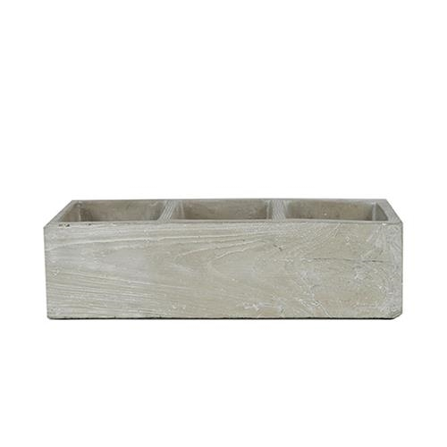 CONCRETE TRIPLE PLANTER $9