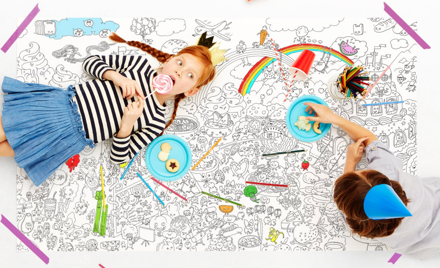 FOOD FIGHT COLORING POSTER $33