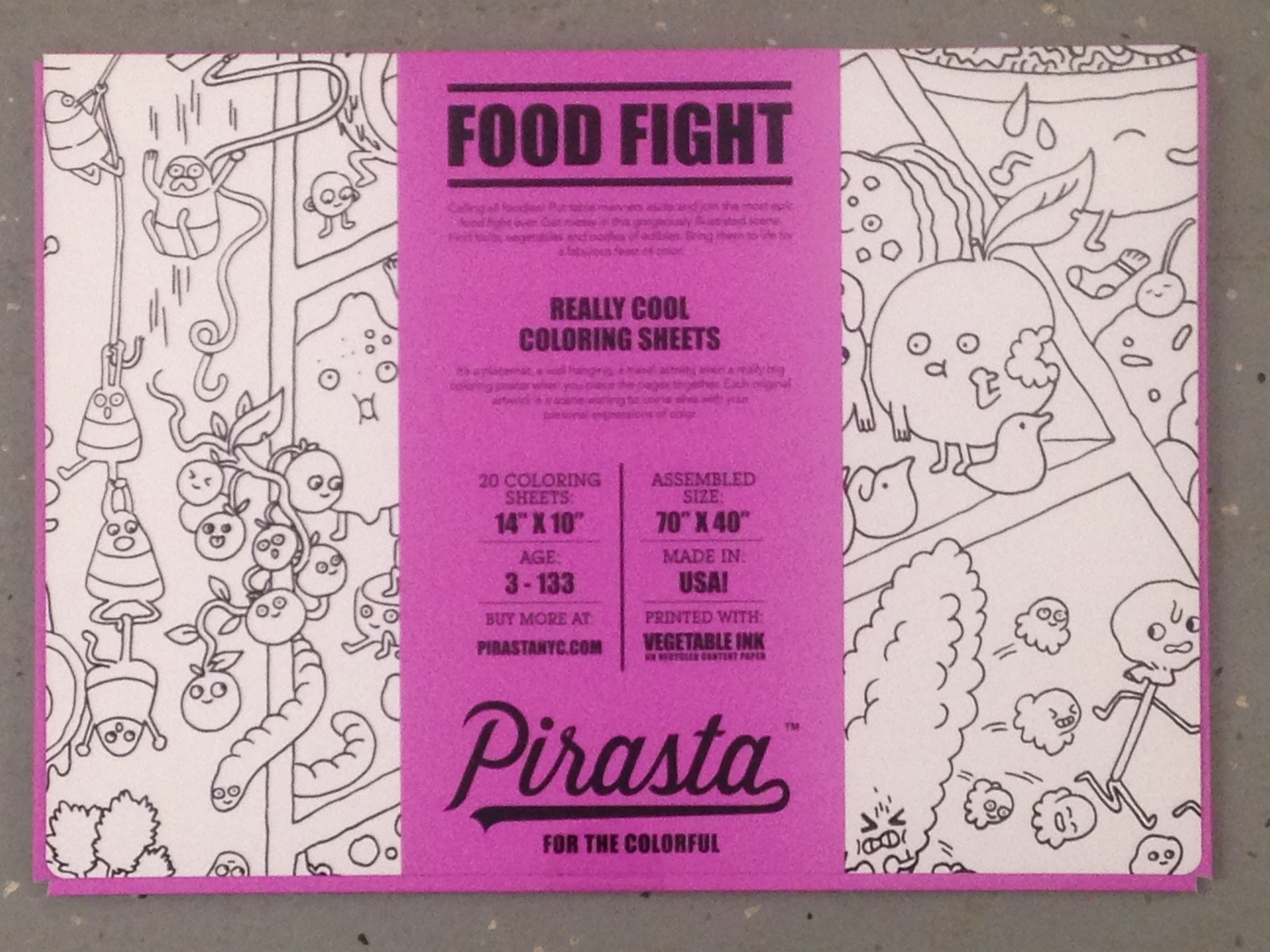 Food Fight Placemats $20