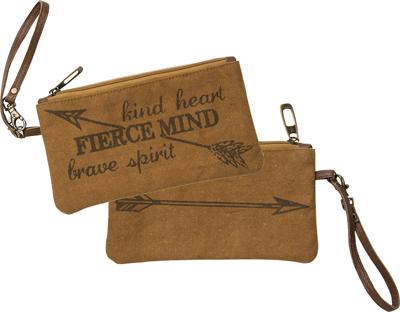 KIND HEART' WRISTLET BAG $20
