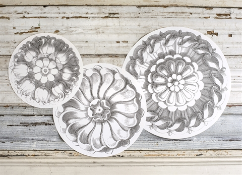 ROSETTE ROUND SERVING PAPERS $18