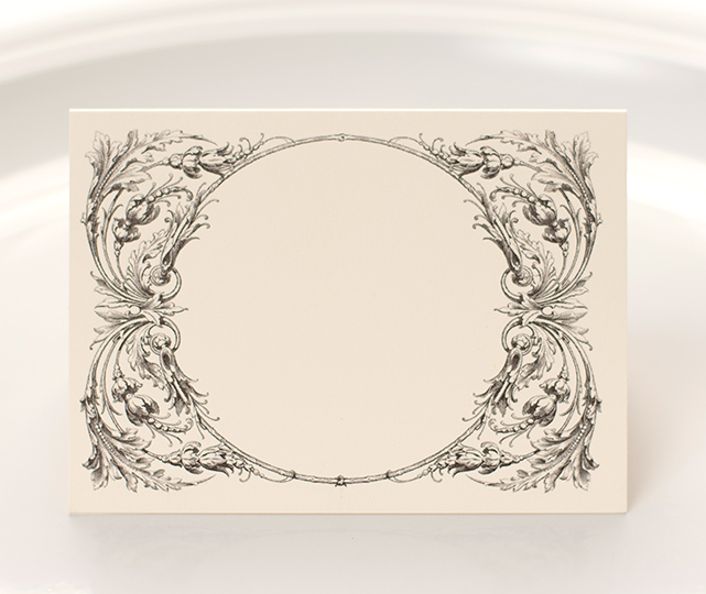 SCROLL PLACE CARDS $6