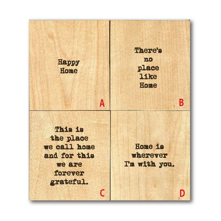 THERE'S NO PLACE LIKE HOME' WOOD TILE MAGNET $6