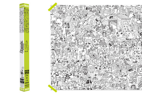 FUNNY FARM COLORING POSTER $33