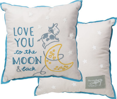 MOON AND BACK' ACCENT PILLOW - BLUE $33
