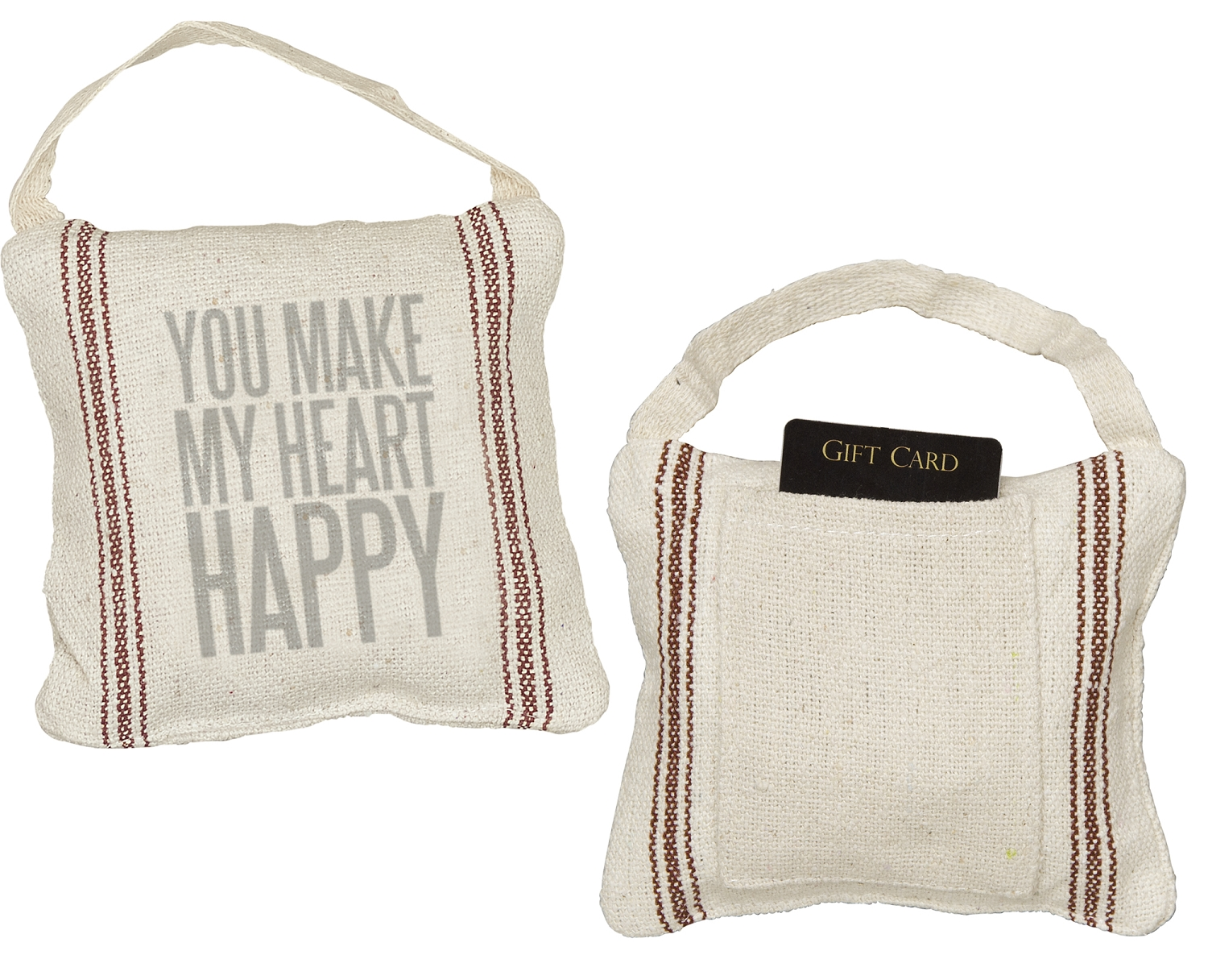 YOU MAKE MY HEART HAPPY MINI PILLOW $7