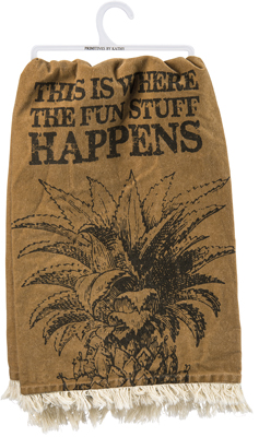 FUN STUFF HAPPENS' DISH TOWEL $16