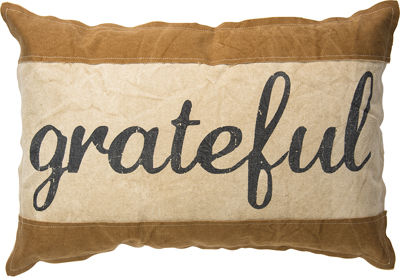 GRATEFUL' PILLOW $42